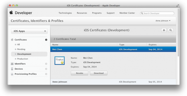 How to share an iOS distribution certificate