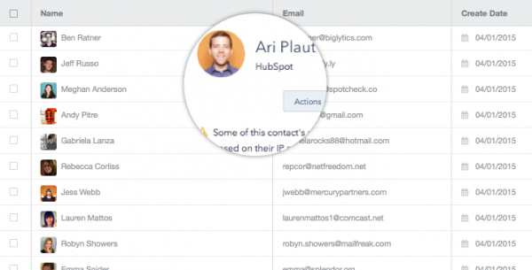 Engaging contacts via the CRM