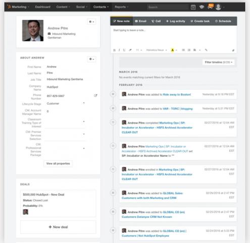 Conversion assist timeline - HubSpot - engagement activities