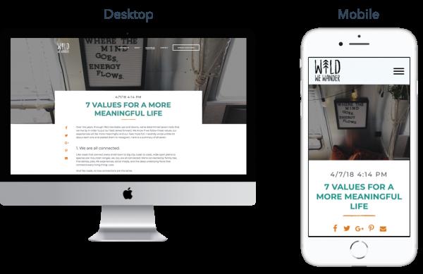 DESKTOP VS MOBILE - tips for blogging and inbound marketing