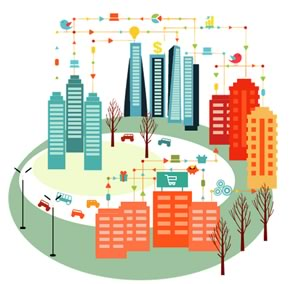 connected city - internet of things - content marketing