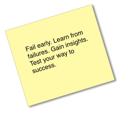 Using failure to learn and grow.