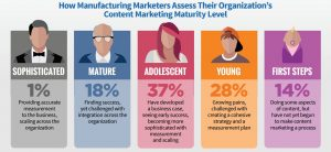 how manufacturing marketers assess their organization's content maturity