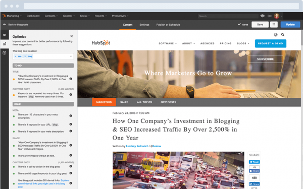 Blog optimization in HubSpot