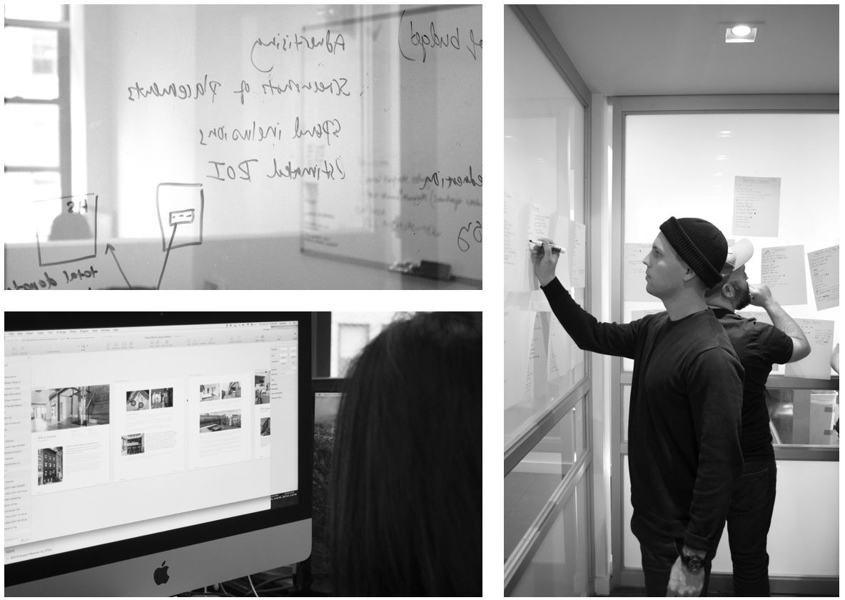 Design strategy process for websites. The Ironpaper team working.