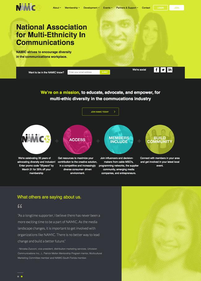 NAMIC-assocation-website-design