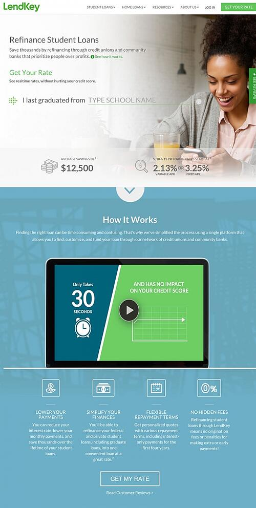 Student Loan website