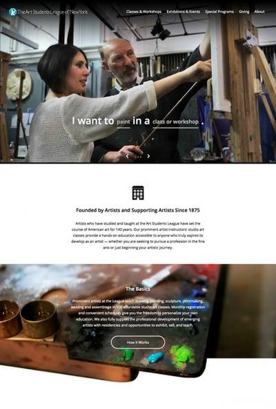 The Art Students League of New York member website that Ironpaper developed using WordPress