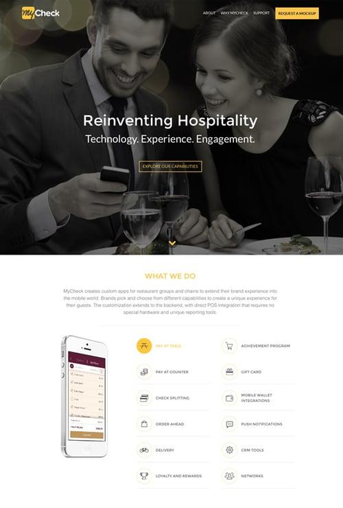 mycheck-hospitality-website