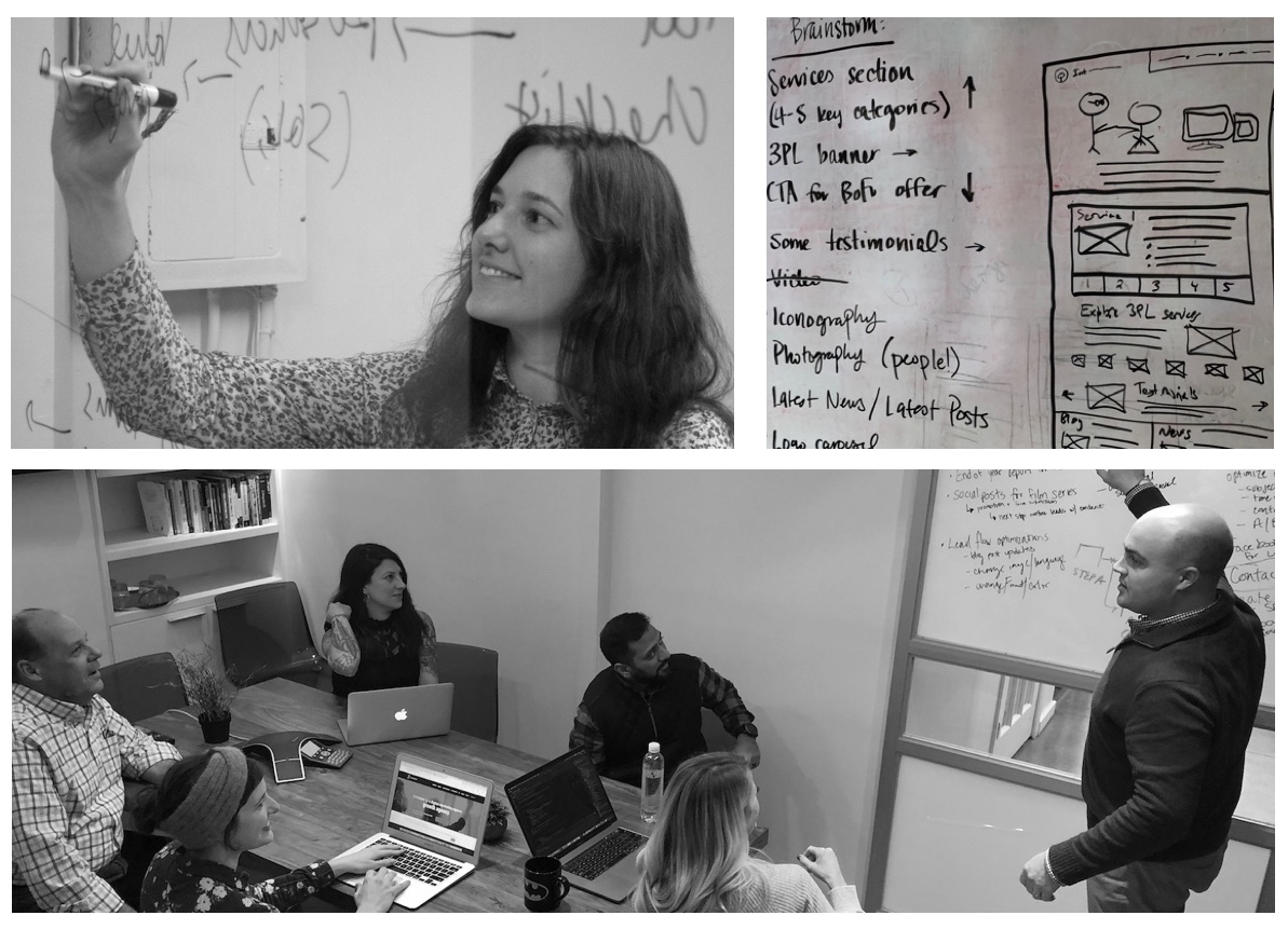 ironpaper-agency-strategy-session-whiteboard