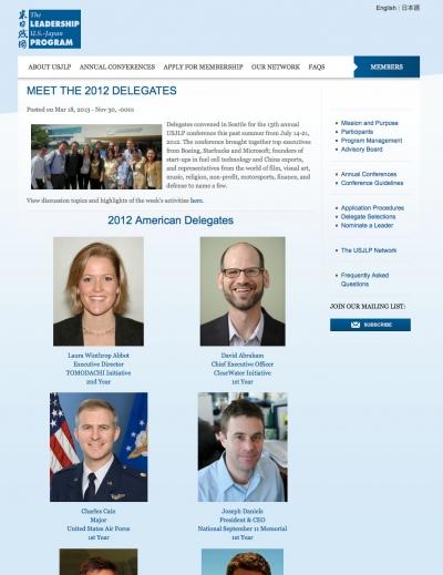 meet the delegates