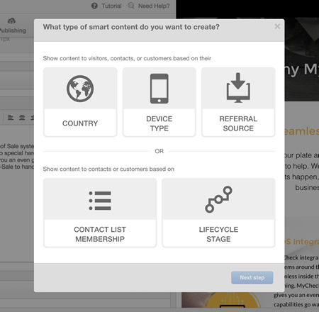 Hubspot COS personalization