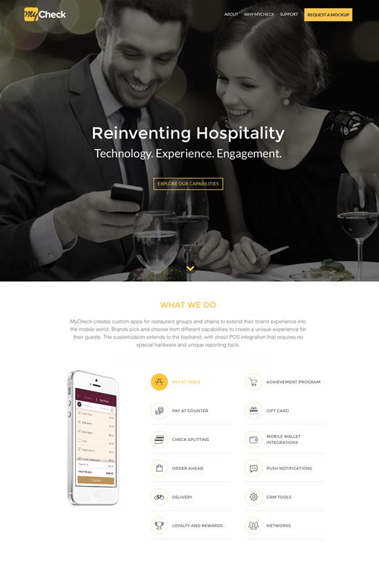 The MyCheck website that Ironpaper developed