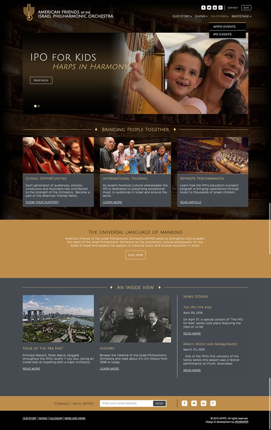 orchestra-arts-donation-website