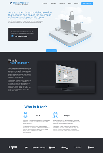 IT cyber security website design