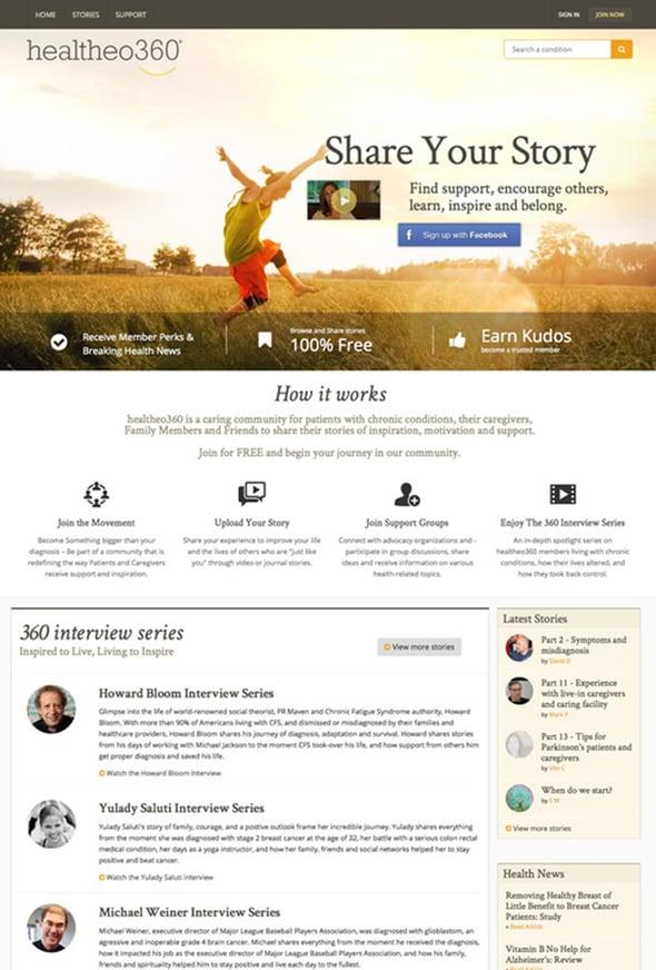 Membership website design example - healthcare membership network