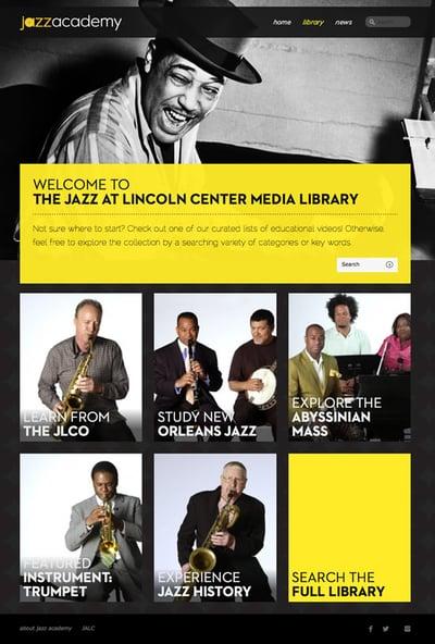 The Jazz Academy website that Ironpaper developed on WordPress