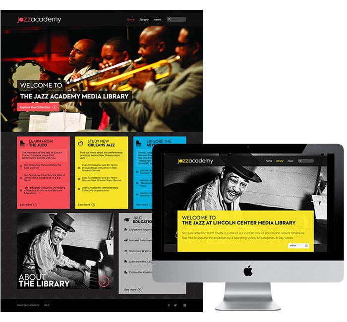 Website Design Example - Jazz at Lincoln Center, Academy - membership website