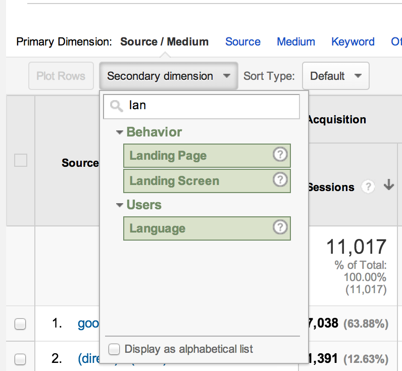 Google Analytics - discover website landing pages