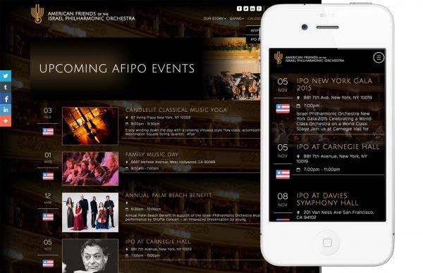 Responsive website design for nonprofit arts organization