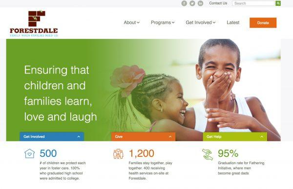 Nonprofit website design example