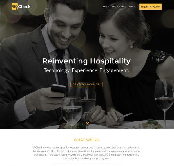 MyCheck - website design trends