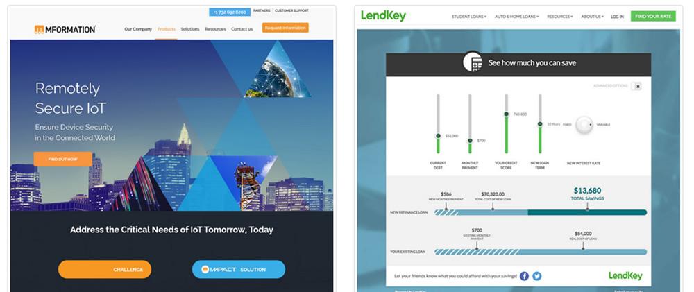 Website design examples by Ironpaper