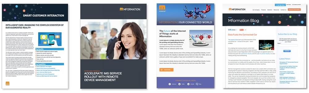 A series of screenshots of websites that Ironpaper has developed