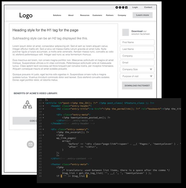 Website development from design to code.
